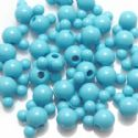 Beads, Acrylic, Light blue, Designer shapes, 12mm x 8mm x 8mm, 11g, 25 Beads, (SLZ0055)